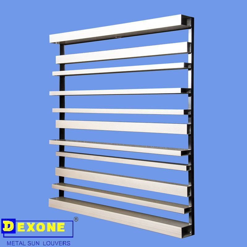 Aluminium Profile Box Louver Shutter For Building