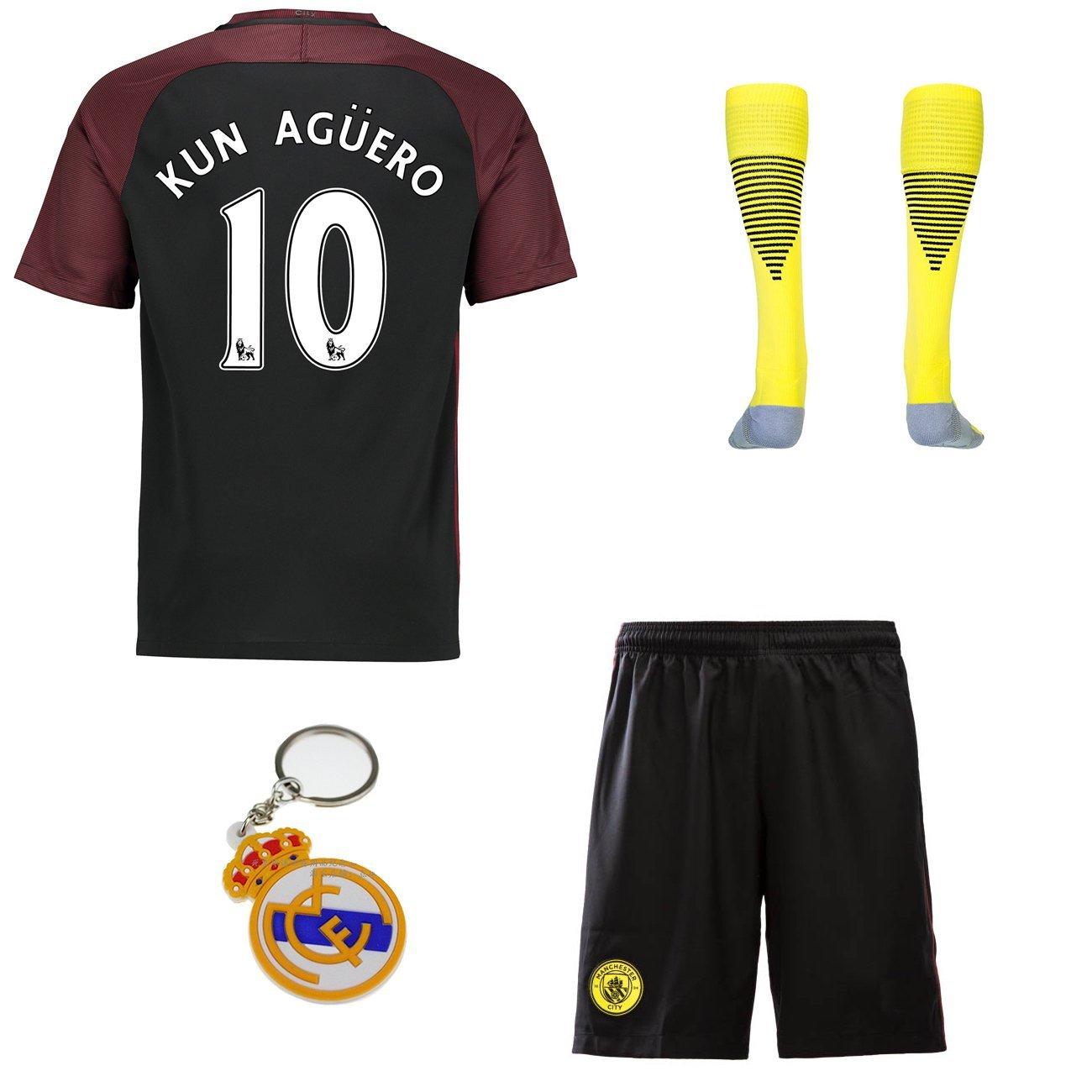 2016 2017 Manchester City  10 kun aguero away Soccer Football Jersey  Sportswear Team Polo ad2e591d0f866