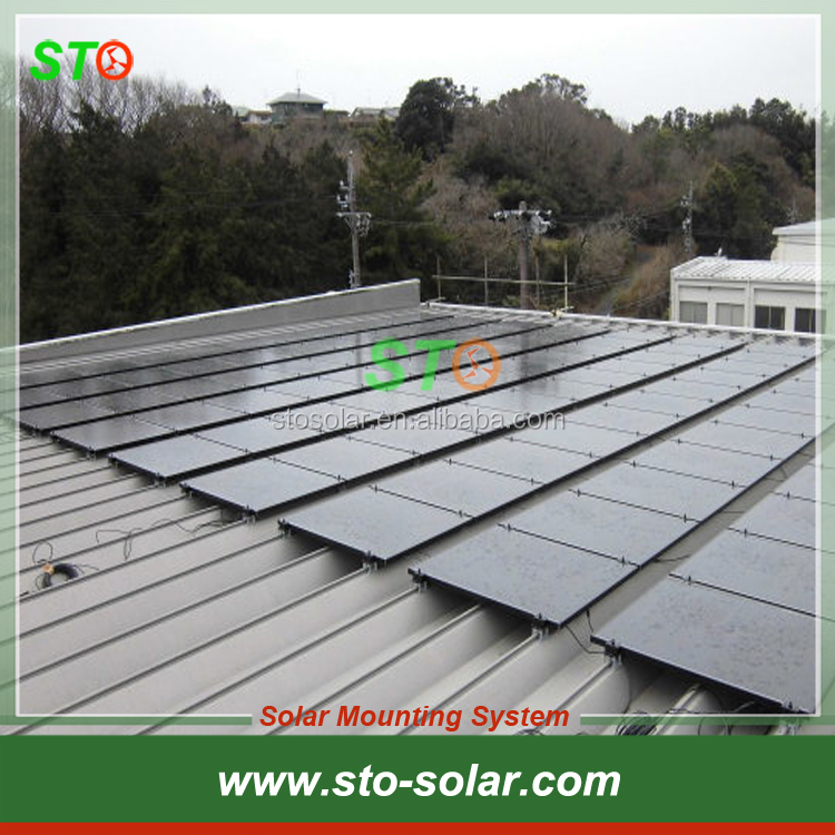 Commercial Standing Seam Roof Solar PV Panel Mounting/Racking Brackets System