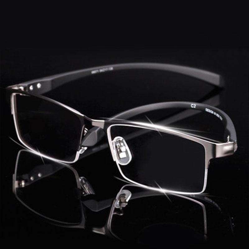 Men's Eyewear Frames 2019 Latest Design Rimless Titanium Eyeglasses Frame Super Lightweighted Flexible Titanium Alloy Temple Legs Optical Glasses Spectacles Men's Glasses