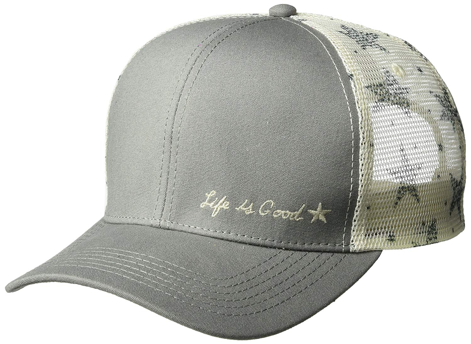 c9d24c8a150 Get Quotations · Life is Good Hard Mesh Back Chill Cap Starry Icon Hat
