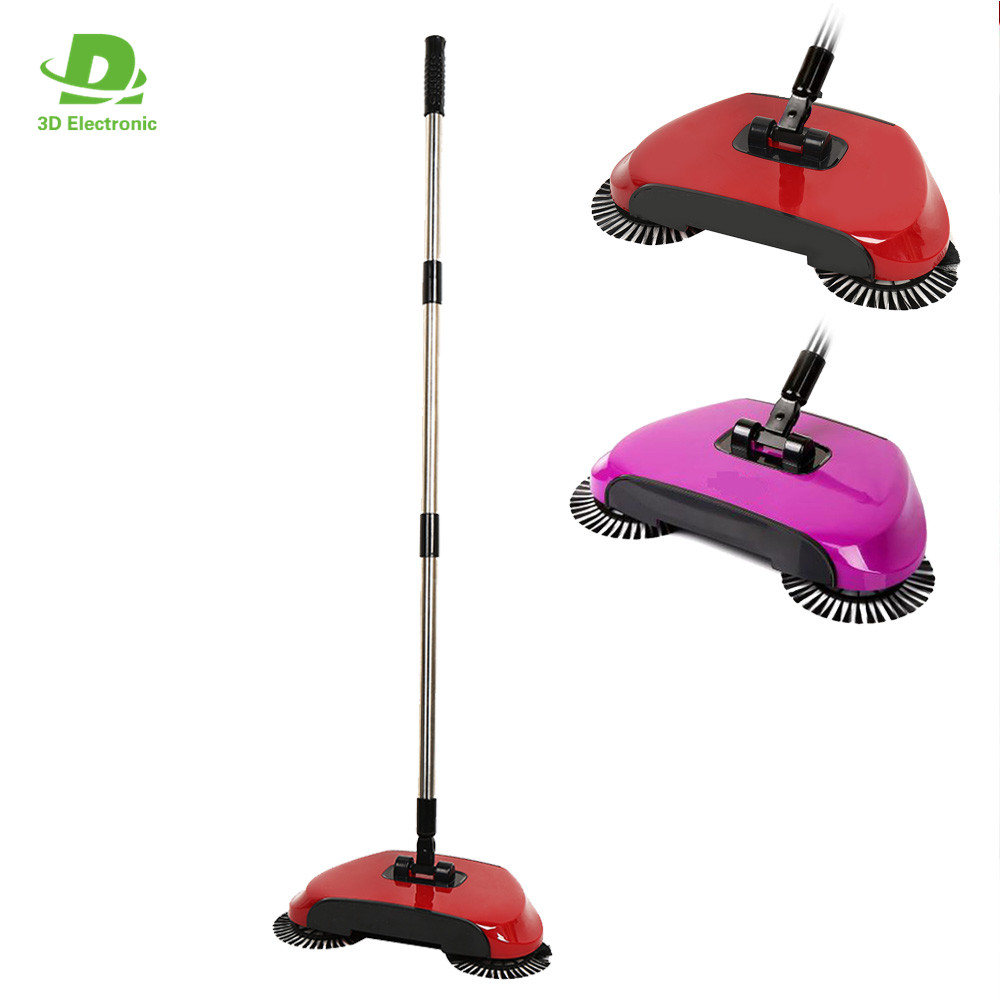 2017 New Arrival Magic Hand Push Sweeper Cordless 360 Spinning Broom