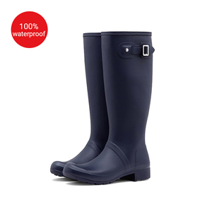 Purple rubber boots fashion cheap any sizes, rain boots women sex rubber boots