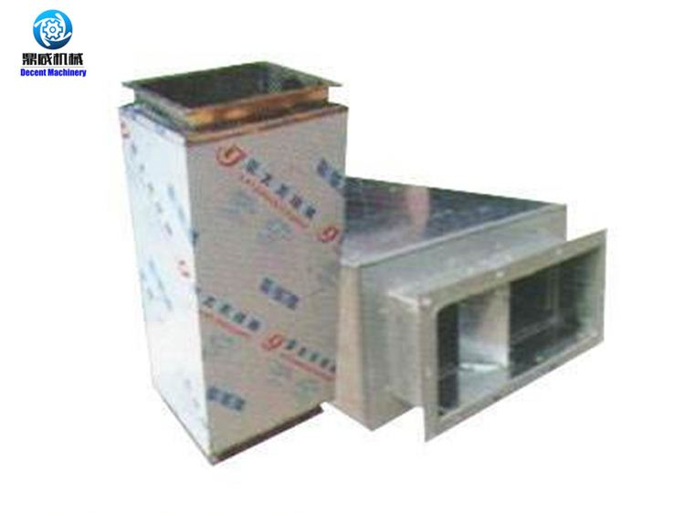 HVAC air duct fitting round gasket for rectangluar duct and silencer