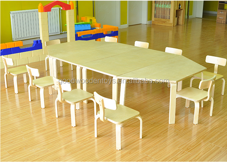 Nuevo dise o de material de madera mesa y sillas para - Mesa y sillas para ninos de madera ...
