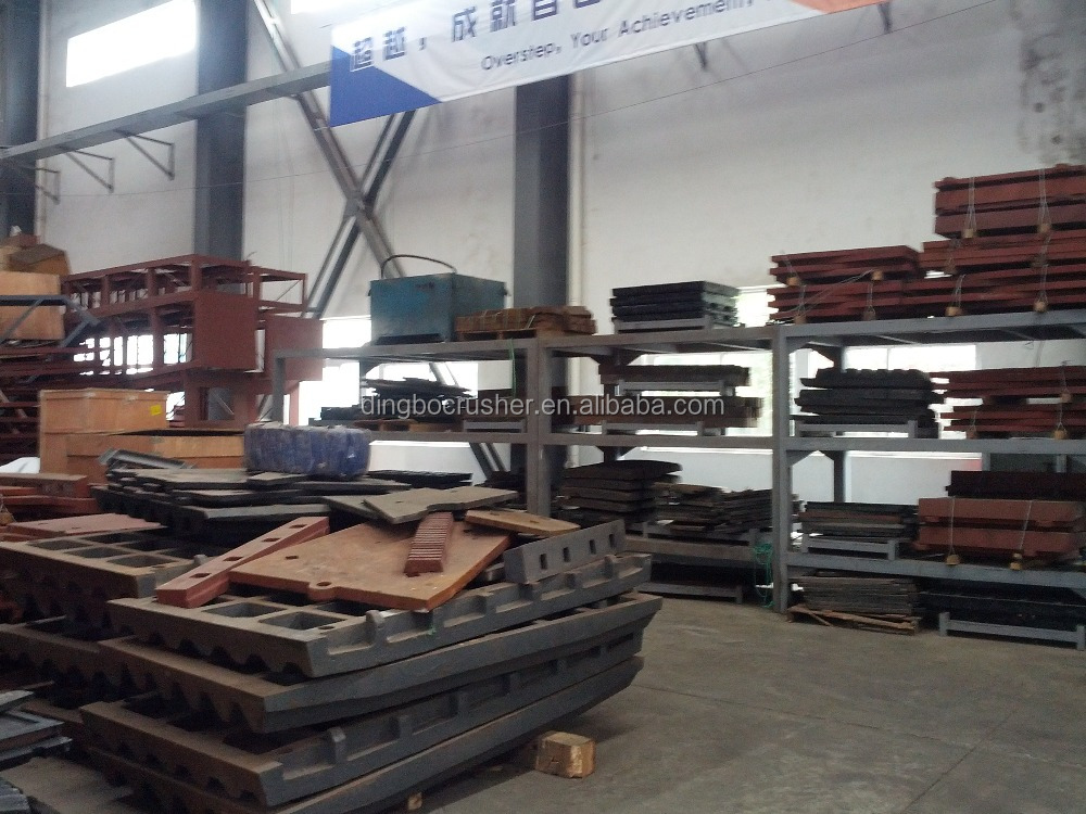 Mn13Cr2 movable jaw plate for jaw crusher