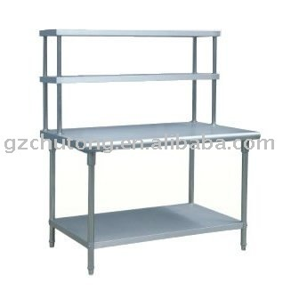 Stainless Steel Lab Work Table Reinforced Frame Resturant Catering Kitchen Ideas