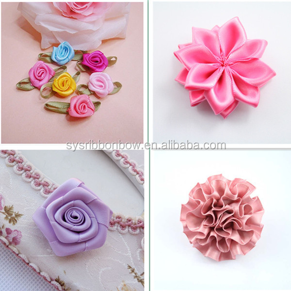 Wholesale Handmade Satin Ribbon Flowers Making/designs Of Ribbon ...