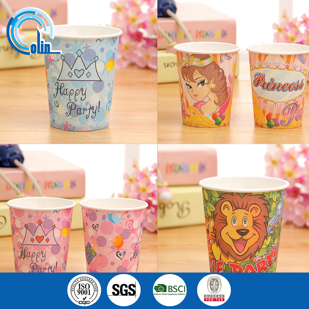Disposable tableware birthday party cartoon cup