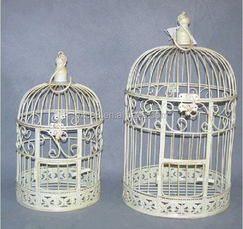 Wholesale wrought iron bird cages for wedding decorative for Cage d oiseau decorative