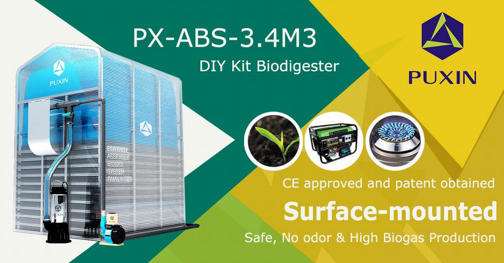 Puxin Family Size Assembled Membrane Biodigester