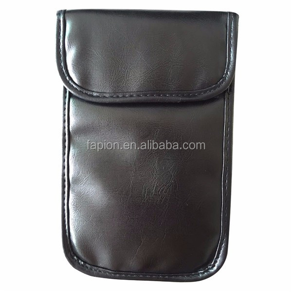 17e1721ae Leather RFID Signal Blocking Bag,RFID Signal Shielding Pouch Wallet Case for  Cell Phone Anti-Radiation Mobile Phone Bags and Car