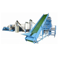 Automatic machine pet bottle waste plastic recycling plant