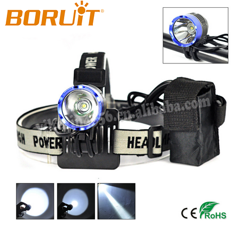 Top sale Boruit 1000LM Rechargeable Cree XML T6 LED Bicycle Light/Headlight EBL0104