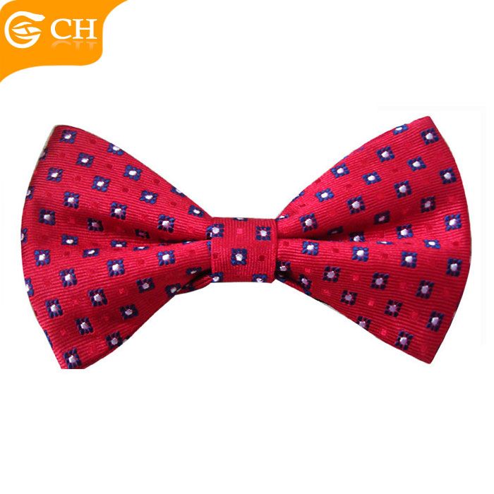 Custom Colorful Men White Dot Red Big Arrow Bowtie