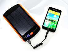 2017Newest design 2.2 W 23000Mah Safety silicone rubber oil solar Power Bank
