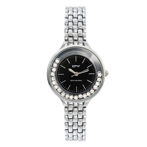 alloy silver case jewelry popular lady wristwatch 2019 new design watches stainless steel
