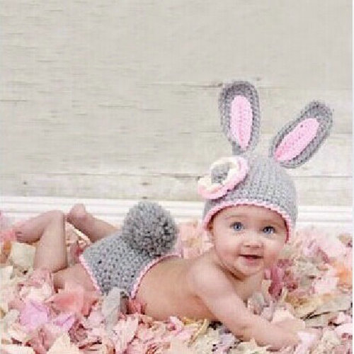 Rabbit Toddler Baby Beanie Costume Animal Hats Caps Sets Taking Photo Photography Props Knit crochet