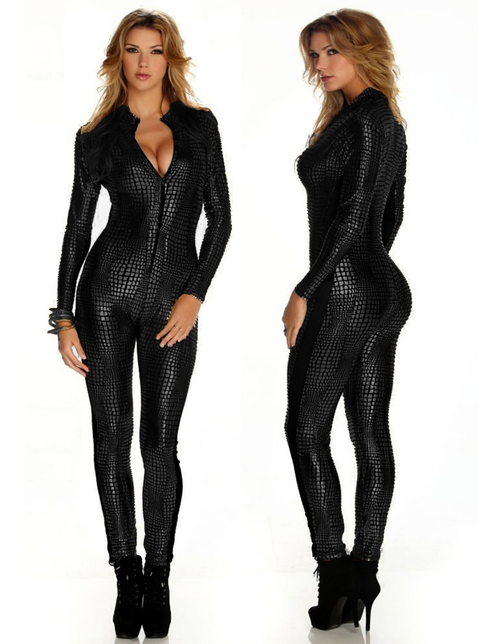 6f7baa3a7bc6 Get Quotations · Sexy Jumpsuit For Women Vinyl Leather Jumpsuit 2014 Hot  Sale New Black Sliver Gold Sexy Leather