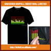 Shining party led flashing t shirt with 100% cotton high quality