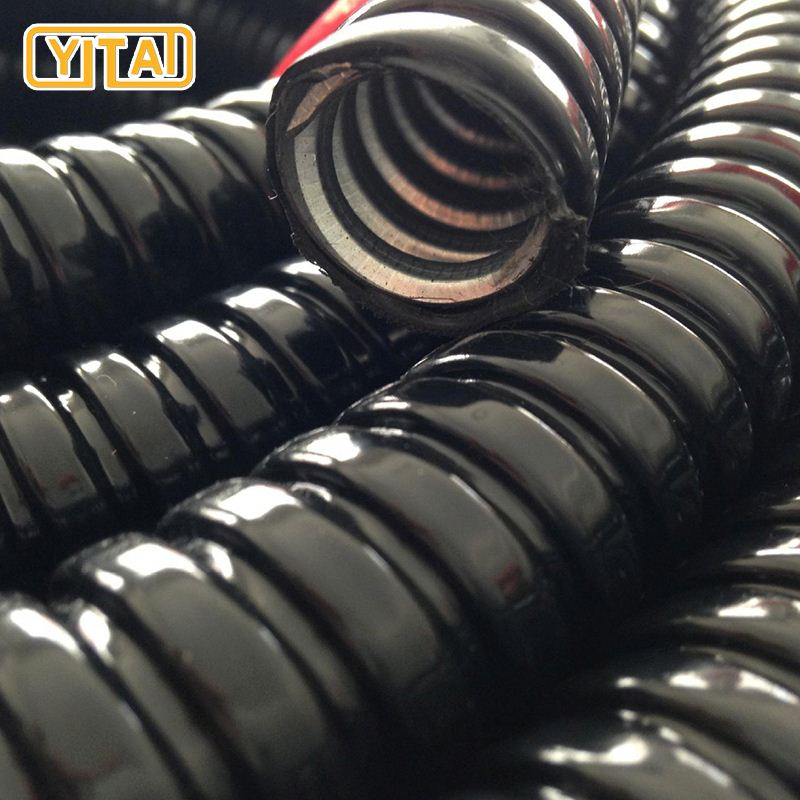 pvc coated fire resistant corrugated electrical flexible conduit metal tube