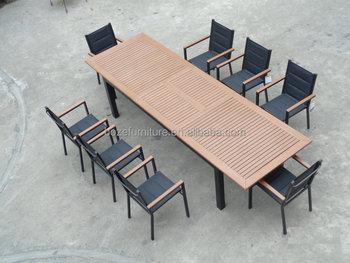 Tisch Aus Aluminium Kunststoff Ausziehbarer Esstisch Aus Polyholz