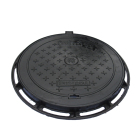 Cast iron manhole cover EN124 D400 Circular manhole cover with diameter of 700mm