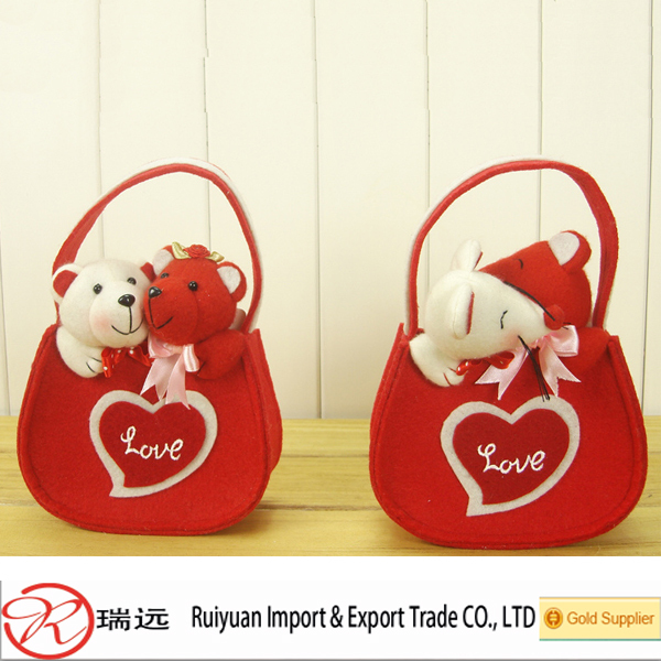 2015 DIY Design Eco-Friendly Tubby-Shaped Felt Valentine Ornament