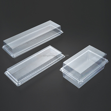 PET Rectangular packaging cake bread loaf platter plastic food container box