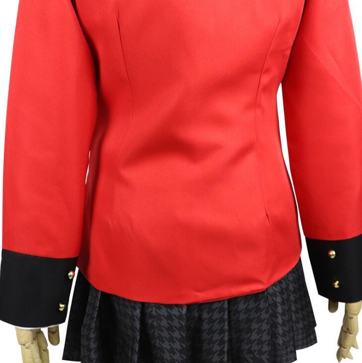 Coldker Kakegurui Yumeko Jabami COS School Girls Uniform Cosplay Costumes Full Set with wig