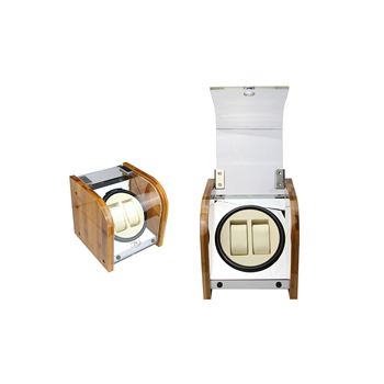 Wholesale Automatic Electronic Bamboo Watch Winder With 2 Watch Auto