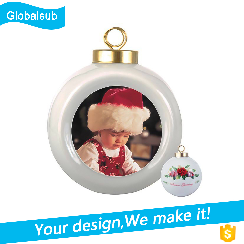 Christmas Ball Ornament Photo For Sublimation Decroration