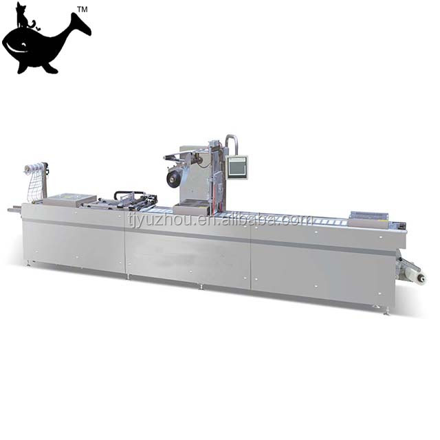 Automatic continuous stretch film round corner cutting vacuum packing machine