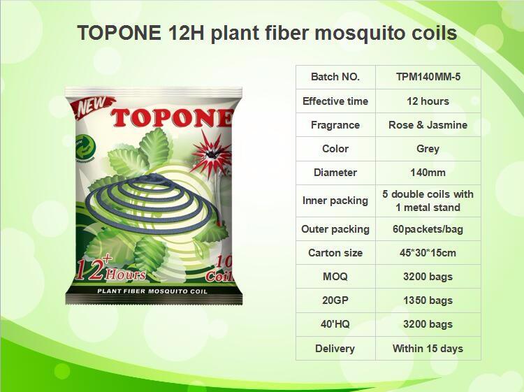 TOPONE 140mm plant fiber mosquito coils