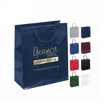 Wholesale cheap heavy duty luxury boutique shopping packaging customised gift paper bag with logo