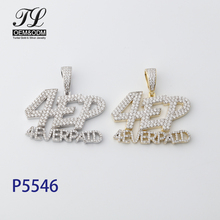 HipHop Custom Design <span class=keywords><strong>보석</strong></span> CZ Micro Pave Ice Out Diamond 14 천개 18 천개 금 Jewelry 925 Sterling Silver <span class=keywords><strong>알파벳</strong></span> 문자발송 & # 펜던트