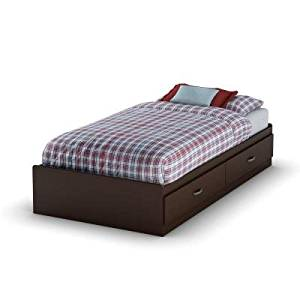 South Shore Furniture Clever Twin Mates Bed in Chocolate