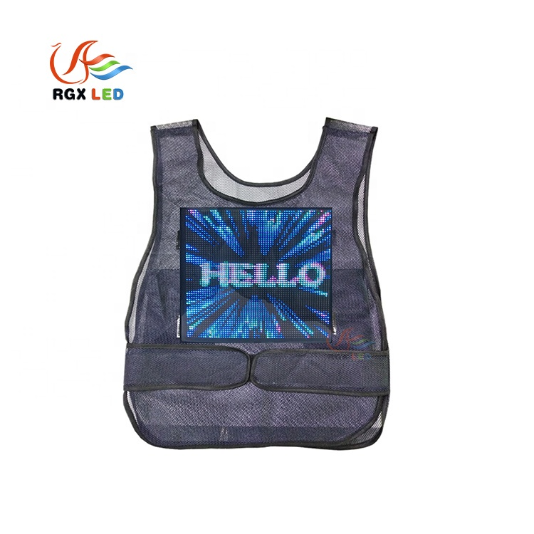 RGX 2019 New Advertising Vest Led, Full Color Waistcoat <strong>Screen</strong>, Wearable Sales Promotion LED Display
