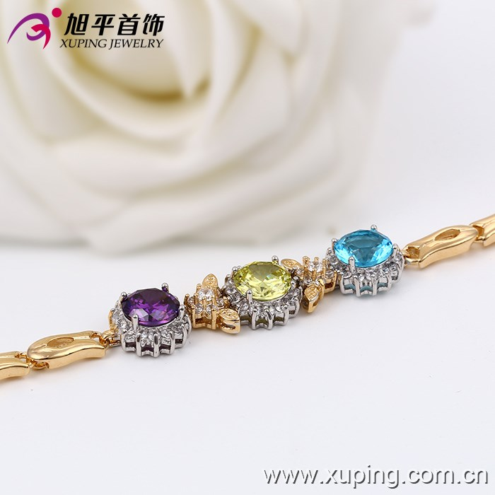 73601Fashion Hand Chain Jewelry Copper Plated Sun Flower Bracelet