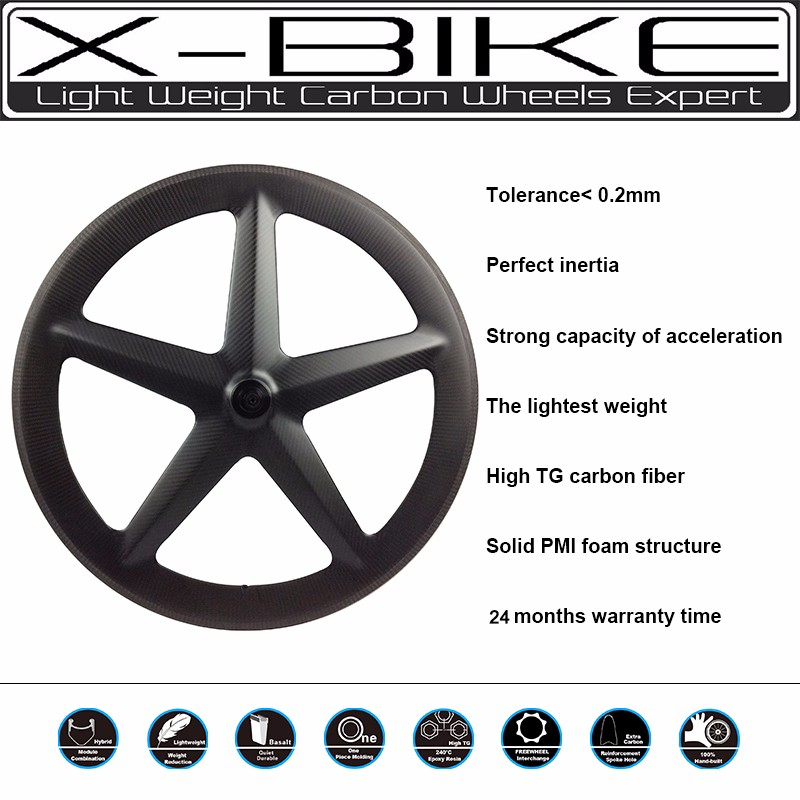 Super professional carbon 5 spoke cycling bike wheel,road spoke wheel