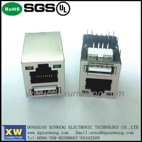 Magnetic Component RJ45+USB Seriec PCB Connector