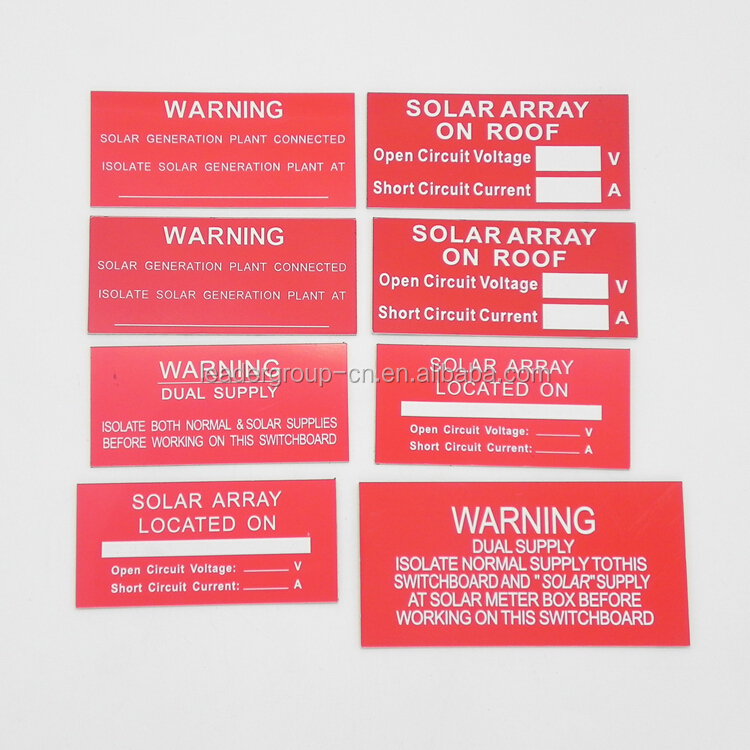 (21pcs per set) High quality Solar Warning <strong>Label</strong>, ABS PV <strong>Labels</strong>, Solar <strong>Label</strong> kits