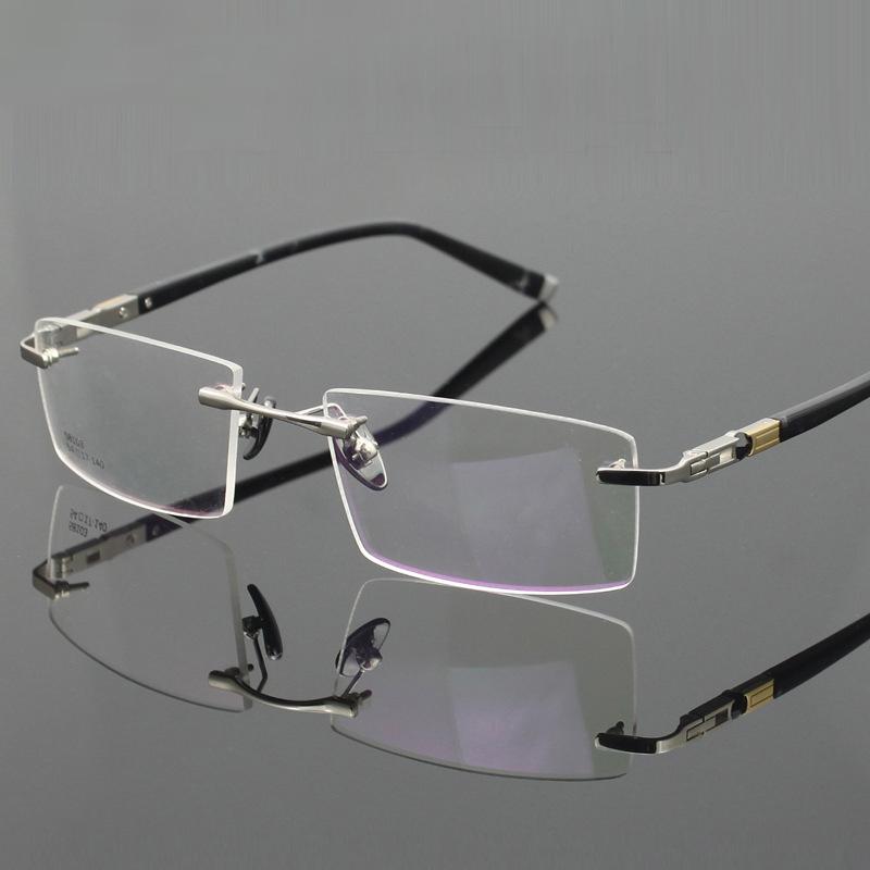 Titanium Eyeglasses Rimless Ultra Light Myopia Optical