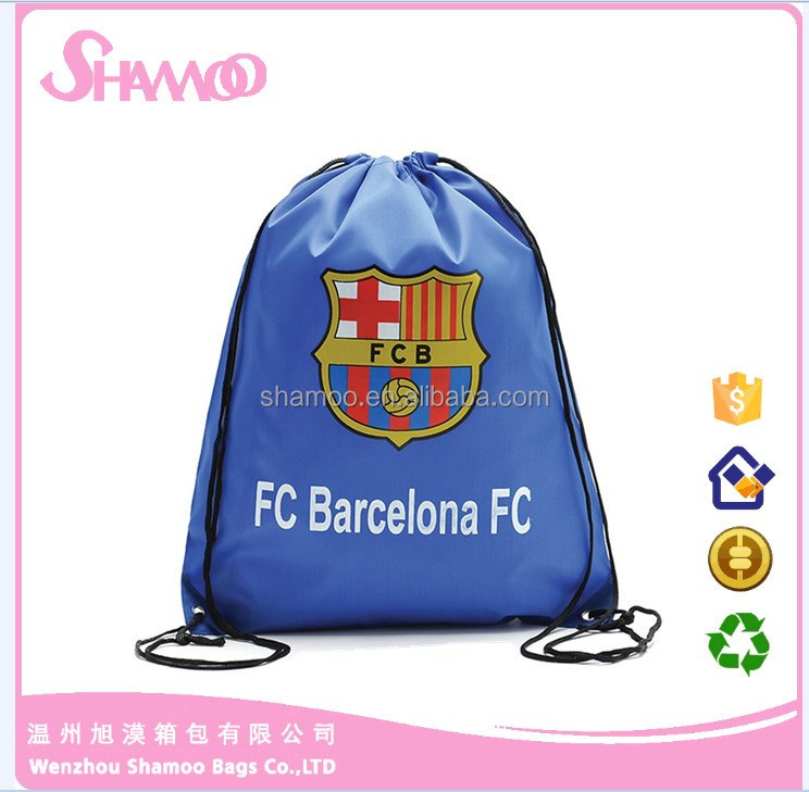Alibaba china promotion custom printed polyester gym drawstring backpacks