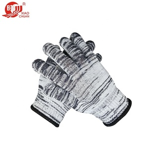 7 gauge protection promotional cotton knitted nylon gloves