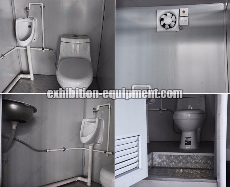 Portable Toilet Exhibition : Factory wholesale low price fiberglass portable outhouse
