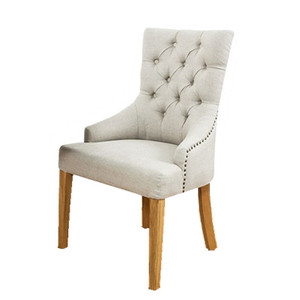 Tufted Fabric Wooden Baby Dining Chair In Brief Style
