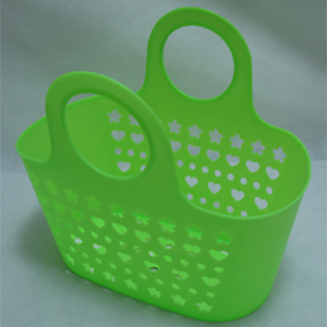 plastic PE high quality household storage basket with handle
