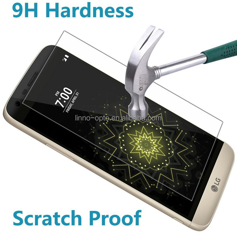 Manufacturers China LINNO 3D Curved Bubble free 9H 3D Tempered Glass Screen protector for LG G5