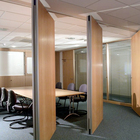 Free Sample Office Room Partition Wood Movable Wall Folding Partition